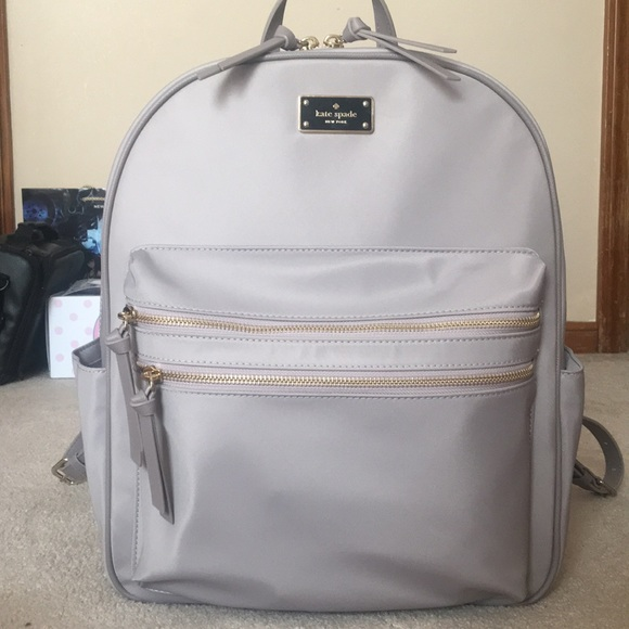 outlet catch release date NWT Kate Spade Grey Bradley Wilson Road Backpack NWT